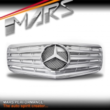 Chrome Silver CL5 Style Front Bumper Bar Grille for Mercedes-Benz E-Class W211 facelift 07-08