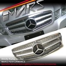 Chrome Silver AMG Style Front Grille for Mercedes-Benz E-Class W212 09-13