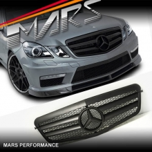 Matt Black AMG Style Front Grille for Mercedes-Benz E-Class W212 09-13