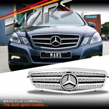 Chrome Black AMG Style Front Bumper Bar Grille for Mercedes-Benz E-Class W212 09-13