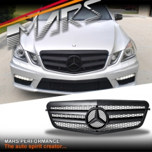 Matt Black AMG Style Front Bumper Bar Grille for Mercedes-Benz E-Class W212 09-13