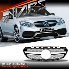 Silver Black AMG E63 Style Front Grille for Mercedes-Benz E-Class W212 Sedan 14-16