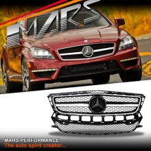 Chrome Black CLS63 Style Radiator Grille for Mercedes-Benz CLS-Class W218 C218 11-14