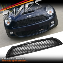 Black JCW Style ABS Front Grill for Mini Cooper & Cooper S 07-13