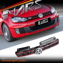 GTi Style Front Grille for VolksWagen VW Golf VI MK-6