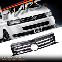 Gloss Black Front Bumper Bar Grille for VolksWagen VW Transporter T5 11-15 & Multivan