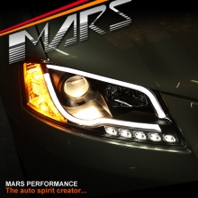 Black DAY-Time 3D LED DRL Projector Head Lights for AUDI A3 8P 08-12 Facelift model