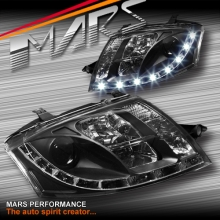 Black Day-Time DRL LED Projector Head Lights for AUDI TT 99-05