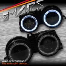 Black CCFL Angel-Eyes Projector Head Lights for BMW 3 Series E30 83-91