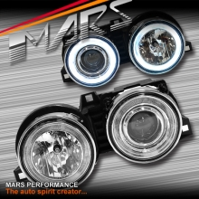 Crystal CCFL Angel-Eyes Projector Head Lights for BMW 3 Series E30 83-91