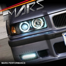 Black CCFL Angel Eyes Head Lights for BMW E36 2 Doors Coupe & Convertible