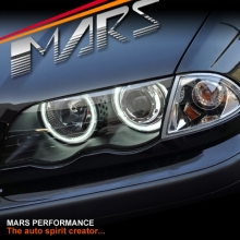 Black CCFL Angel-Eyes Projector Head Lights for BMW 3-Series E46 4D Sedan & Wagon Pre LCI 98-01