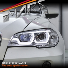 Crystal Clear LED DRL projector Head Lights for BMW X-Series E70 07-10 Pre LCI