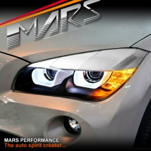 3D LED Bar Angel-Eyes Dual Beam Projector Head Lights for BMW X1 E84 10-14 Pre LCI
