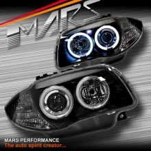 Black CCFL Angel-Eyes Projector Head Lights for BMW E81 E82 E87 E88
