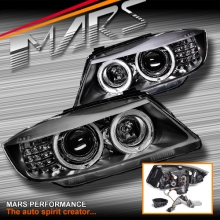 High Power LED angel-eyes projector HID Head Lights with LED Indicators for BMW 3-Series E90 E91