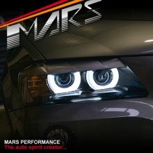 3D LED Bar Angel-Eyes Dual Beam Projector Head Lights for BMW X3 F25 11-14 Pre LCI