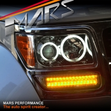 Crystal Clear CCFL Angel-Eyes Projector Head Lights with LED Indicators for Dodge Nitro