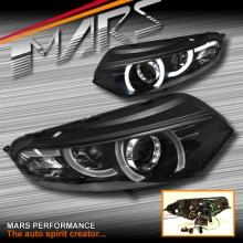 Black 3D Stripe Bar LED DRL Projector Head Lights for Ford EcoSport BK 13-16