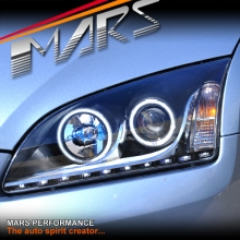 Black Day-Time DRL LED Projector Head Lights for Ford Focus 05-08 LS LT