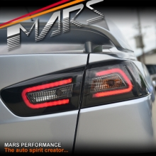 JDM Varis Smoked Black 3D LED Tail lights for Mitsubishi Lancer CJ CF & EVO X Sedan 07-17