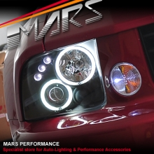Black CCFL Angel Eyes Projector Head Lights for Ford Mustang 05-09