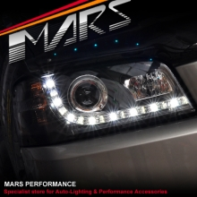 Black DRL LED Projector  Head Lights for Ford Territory SX SY MY04-MY08