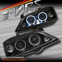 Black CCFL Angel-Eyes Projector Head Lights for Holden Astra G 98-04 Sedan & Hatch
