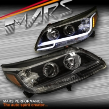 Black 3D DRL Projector Head Lights for Holden Malibu V300 CD CDX