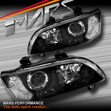 Black Projector Head lights for Holden Commodore VE Series 1 Sedan Ute Wagon