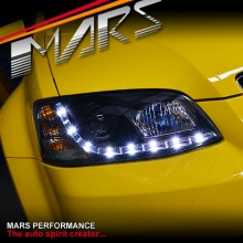 Black DRL LED Projector Head Lights for Holden Commodore & HSV VE Series 2