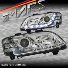 Crystal DRL LED Projector Head Lights for Holden Commodore & HSV VE Series 2