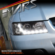 Black DRL LED Projector Head Lights for Holden Commodore VZ
