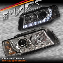 Crystal DRL LED Projector Head Lights for Holden & HSV Commodore VZ
