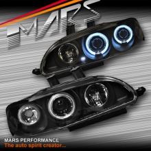 Black CCFL Angel-Eyes Projector Head Lights for Honda Civic EG 92-95 Hatch
