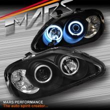 Black CCFL Angel-Eyes Projector Head Lights for Honda Civic EK 99-00