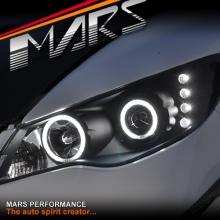 Black CCFL Angel-Eyes Projector Head Lights for Honda Civic FD Sedan 06-12