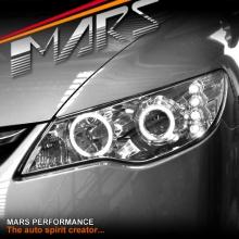 Crystal Clear CCFL Angel-Eyes Projector Head Lights for Honda Civic FD Sedan 06-12