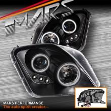 Black CCFL Angel-Eyes Projector Head Lights for Honda Prelude 97-01 KS