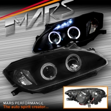 Black Angel Eyes Projector Head Lights for Honda S2000 AP1