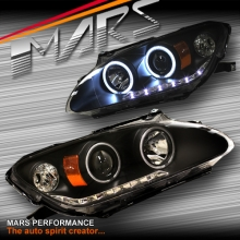 Black LED DRL & CCFL Angel Eyes Projector Head Lights for Honda S2000 AP1