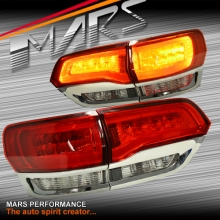 Clear Red 3D LED Stripe Tail Lights for JEEP Grand Cherokee WK 10-13 Series 1