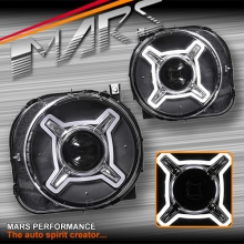 Black LED X Shape DRL Dual beam Projector Head Lights for JEEP Renegade BU