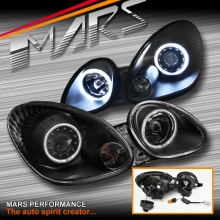 Black CCFL Angel-Eyes Projector Head Lights for Lexus GS300 98-05 JZS160R