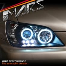 Black CCFL Angel-Eyes Projector Head Lights for Lexus IS200 IS300