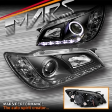 Black LED DRL & Angel-Eyes Projector Head Lights for Lexus IS200 IS300