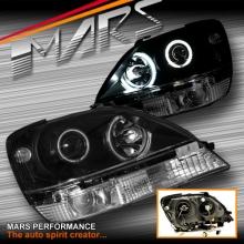 Black CCFL Angel Eyes Projector Head Lights for for Lexus RX300 XU10 99-03