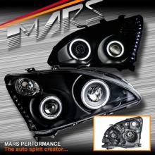 Black LED DRL & CCFL Angel Eyes Projector Head Lights for Lexus RX330 RX350 RH400H 03-08