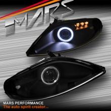 Black CCFL Angel-Eyes Projector Low Beam Head Lights for Toyota Soarer & Lexus SC300 SC400