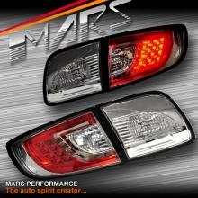 Crystal Clear LED Tail Lights for Mazda 3 4 doors Sedan BK 03-09
